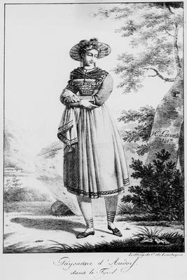 Paysanne d'Audorf sand le Tyrol, by Hippolyte Lecomte, 1817