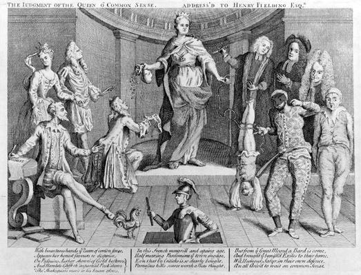 The judgment of the queen o' common sense, address'd to Henry Fielding Esq., 1736