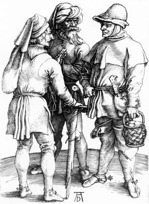 Three Peasants in Converation, 1497