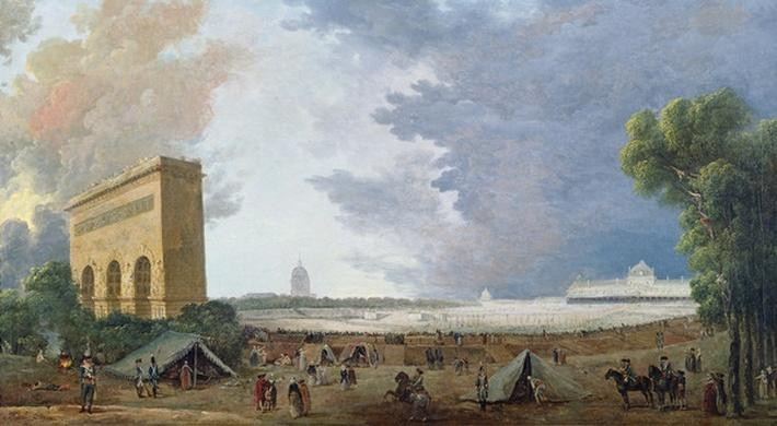 F�te de la F�d�ration on the Champ de Mars, 14 July 1790