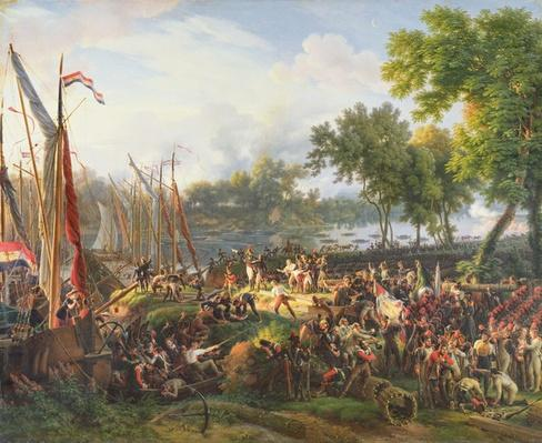 The French Army crossing the Rhine at Dusseldorf, 6th September 1795