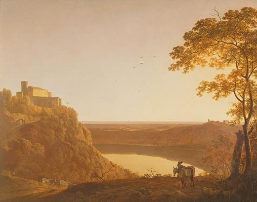 Lake Nemi at Sunset, c.1790