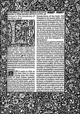 Front Page of Chapter I, taken from The Well at World's End by William Morris, 1896