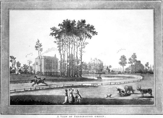 A View of Paddington Green, after Jeffry's Hamett O'Neale, published by Sayer & Bennett, 1782-1783