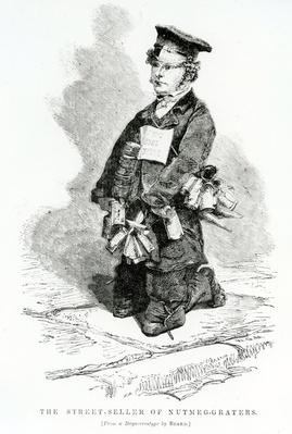 The Street Seller of Nutmeg-graters, illustration taken from The London Labour and the London Poor by Henry Mayhew, circa 1840