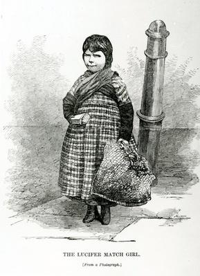 The Lucifer Match Girl, illustration taken from The London Labour and the London Poor by Henry Mayhew, circa 1840