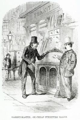 Garret-Master, or Cheap Furniture Maker, illustration taken from The London Labour and the London Poor by Henry Mayhew, circa 1840
