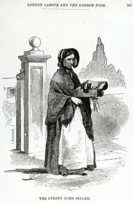 The Street Comb Seller, illustration taken from The London Labour and the London Poor by Henry Mayhew, circa 1840