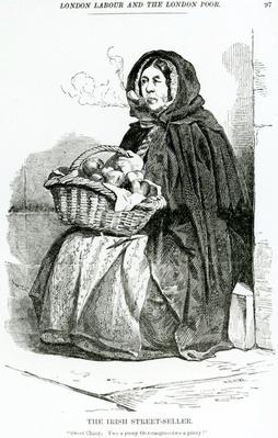 The Irish Street Seller, illustration taken from The London Labour and the London Poor by Henry Mayhew, circa 1840