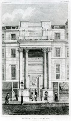 Exeter Hall, Strand, London from Gentleman's Magazine