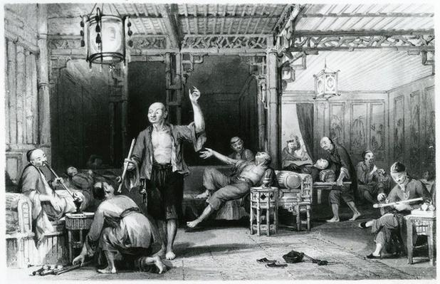 Chinese Opium Smokers, 1843