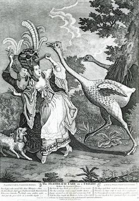 The Feathered Friend in a Fright, 1779