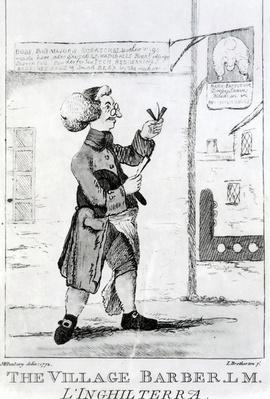 The Village Barber L. M. Inglaterra, engraved by James Bretherton