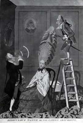 Ridiculous Taste, or The Ladies Absurdity, c.1776