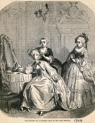 The Boudoir of a Parisian Lady in the Last Century, 1789