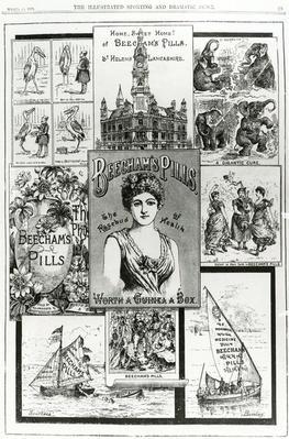 Advertisement for Beecham's Pills, the Rosebud of Health, 1890
