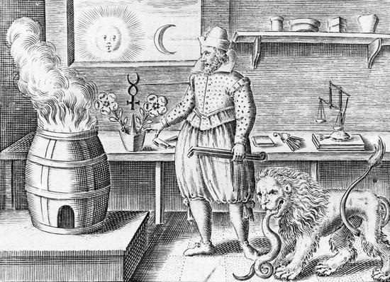 The alchemist in his workshop