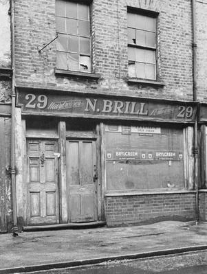 The facade of 29 Hanbury Street, 1888