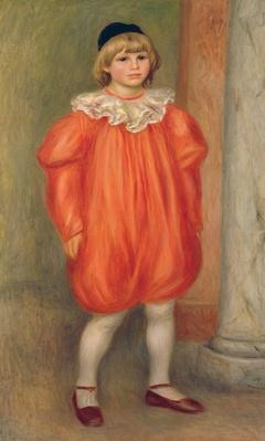 Claude Renoir in a clown costume, 1909