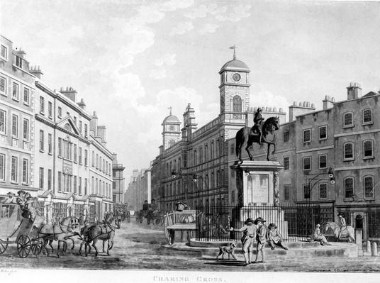View in Charing Cross towards Northumberland House, 1795