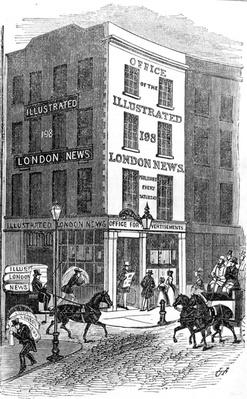 Illustration of the Office of the Illustrated London News, taken from the Illustrated London News, 1842