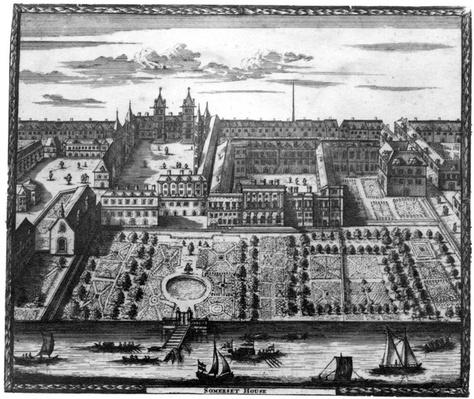 "Somerset House, taken from ""View of London"", published by Joannes de Ram, 1690"