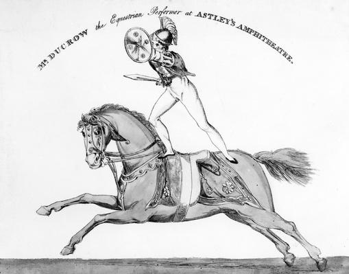 Mr Ducrow the Equestrian Performer at Astley's Amphitheatre, circa 1840