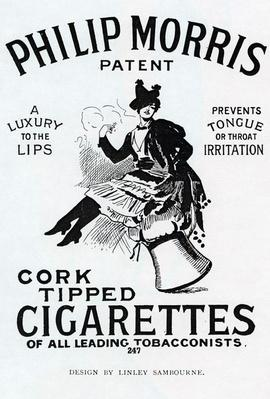 Poster for Philip Morris Cigarettes, designed by Linsay Sambourne, 1896