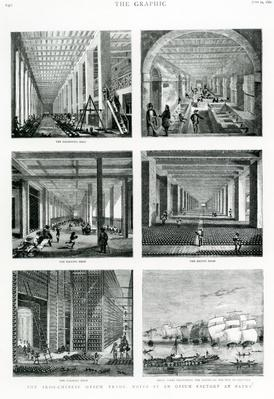 """The Indo-Chinese Opium Trade: Notes at an Opium Factory at Patna, taken from """"The Graphic"""", 1882"""