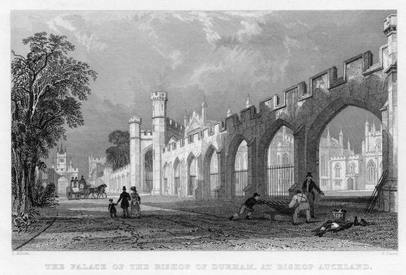 The Palace of the Bishop of Durham, at Bishop Auckland, engraved by S.Lacey after T.Allon, published by Fisher, Sen & Co., 1833