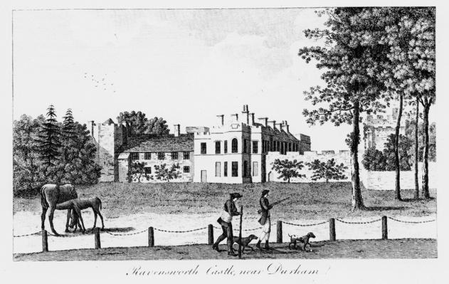 Ravensworth Castle near Durham, by F. Cary, 19th Century