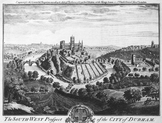 The South-West Prospect of the City of Durham, circa 1600