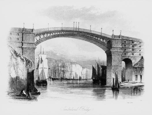 Sunderland Bridge, printed by J&E Harwood,1841