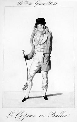 Le Bon Genre - Le Chapeau en Ballen, published by Pierre La Mesangere, 1812-1813