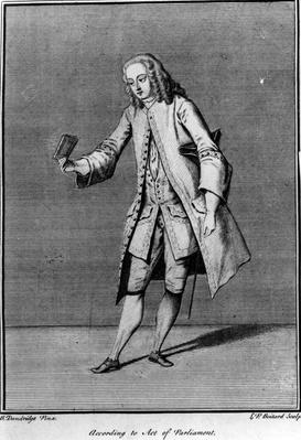 According to Act of Parliament, made by Louis Phillippe Boltard after Bartholomew Dandridge, 1737