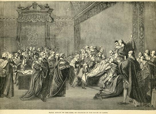 Fatal Seizure of the Earl of Chatham in the House of Lords, 1778
