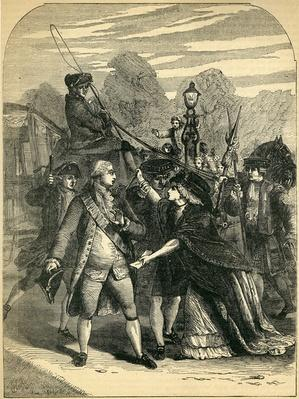 The attempted Assassination of George III by Margaret Nicholson, 1786
