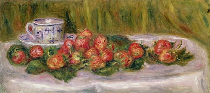 Still Life of Strawberries and a Tea-cup, c.1905