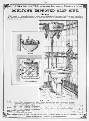 Doulton's Improved Slop Sink, 19th Century