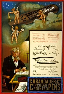 Advertisement for C. Brandauer & Co. Circular Pointed Pens