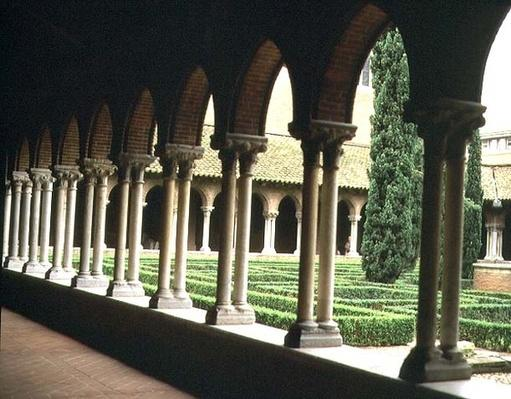 The Cloister Garden, seen from one of the galleries, 1265-98