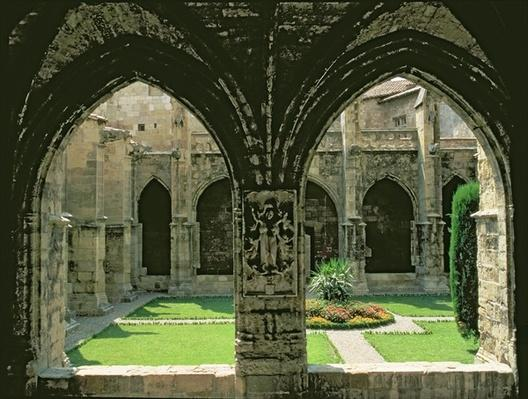 The Cloister Garden, seen from one of the galleries, 1272-1340