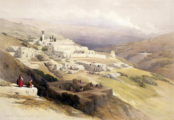 Convent of the Terra Santa, Nazareth, April 21st 1839, plate 30 from Volume I of 'The Holy Land', engraved by Louis Haghe