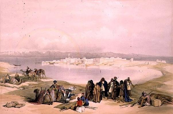 Suez, February 11th 1839, plate 124 from Volume III of 'The Holy Land', engraved by Louis Haghe
