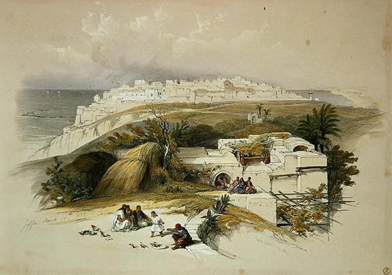 Jaffa, March 26th 1839, plate 62 from Volume II of 'The Holy Land', engraved by Louis Haghe