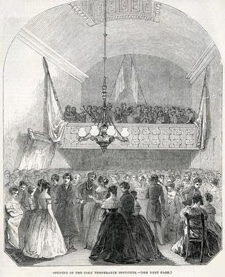 Opening of the Cork Temperance Institute, 1845