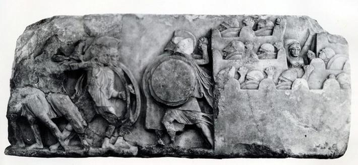 Section of the Frieze of The Nereid Monument at Xanthus, circa 4th Century BC