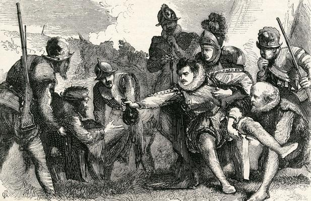 Death of Sir Philip Sidney at the Battle of Zutphen, 1865
