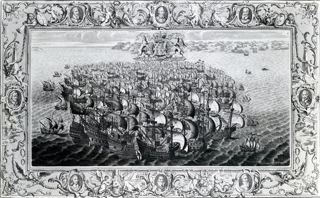 The Spanish Armada, published by John Pine, 1739