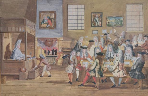 Interior of a London Coffee House, c.1650-1750
